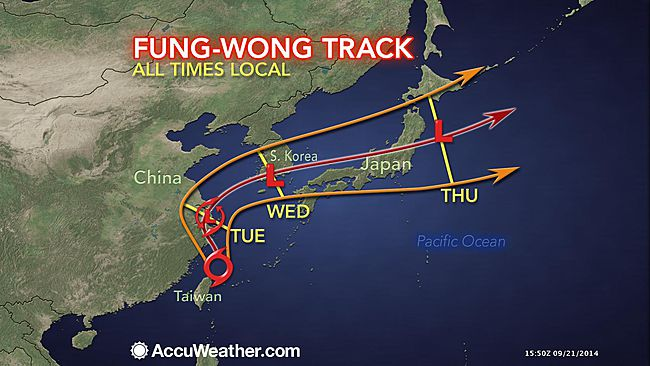 tyfooon, typhoon, accuweather, storm, Taiwan, Sven, Fida, overleefd
